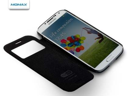 Momax Smart Flip View Case for Samsung Galaxy S4 I9500 - Night Black