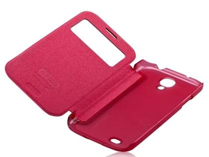 Momax Smart Flip View Case for Samsung Galaxy S4 I9500 - Coral
