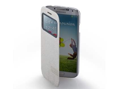 Momax Smart Flip View Case for Samsung Galaxy S4 I9500 - Golden Beige