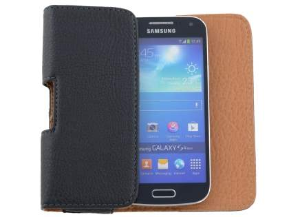 Samsung Galaxy S4 mini Synthetic Leather Belt Pouch - Classic Black