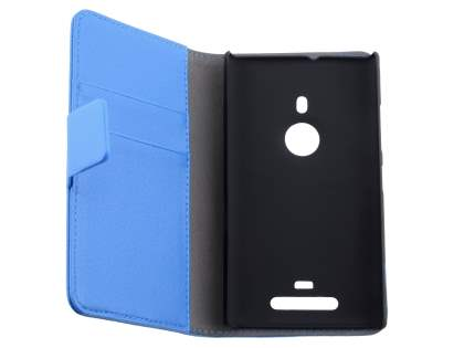Nokia Lumia 925 Slim Synthetic Leather Wallet Case with Stand - Blue