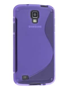 Wave Case for Samsung I9295 Galaxy S4 Active - Frosted Purple/Purple Soft Cover