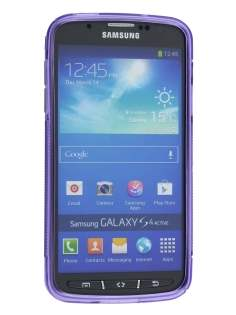 Samsung I9295 Galaxy S4 Active Wave Case - Frosted Purple/Purple