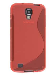 Wave Case for Samsung I9295 Galaxy S4 Active - Frosted Red/Red Soft Cover