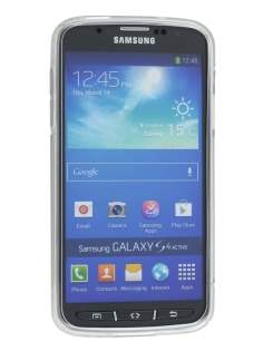 Samsung I9295 Galaxy S4 Active Wave Case - Frosted Clear/Clear