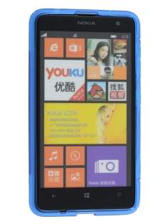 Nokia Lumia 625 Wave Case - Frosted Blue/Blue