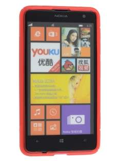 Nokia Lumia 625 Wave Case - Frosted Red/Red