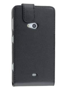 Nokia Lumia 625 Synthetic Leather Flip Case - Classic Black