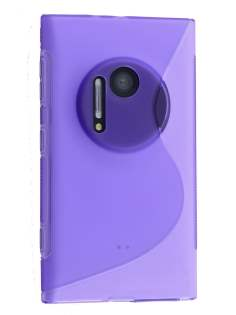 Wave Case for Nokia Lumia 1020 - Frosted Purple/Purple Soft Cover