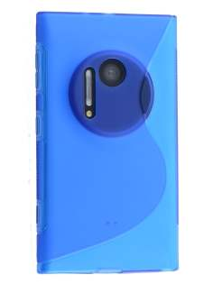 Wave Case for Nokia Lumia 1020 - Frosted Blue/Blue