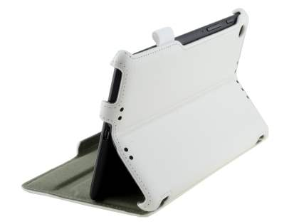 Synthetic Leather Flip Case with Multi-Angle Tilt Stand for Asus Google Nexus 7 2013 - Pearl White Leather Flip Case