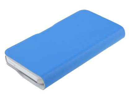 iPhone 5c Slim Genuine Leather Portfolio Case with Stand - Blue