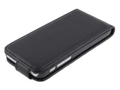 Apple iPhone 5c Synthetic Leather Flip Case - Classic Black