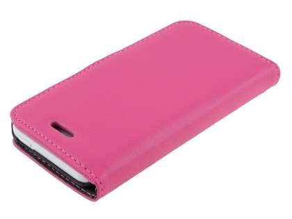 Synthetic Leather Wallet Case with Stand for iPhone 5c - Pink