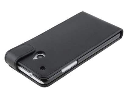 Synthetic Leather Flip Case for HTC One Mini M4 - Classic Black