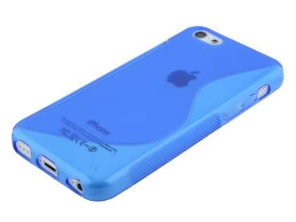 Wave Case for iPhone 5c - Frosted Blue/Blue