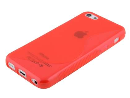 Wave Case for iPhone 5c - Frosted Red/Red