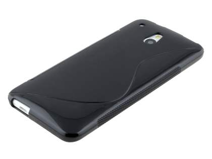 Wave Case for HTC One Mini - Frosted Black/Black