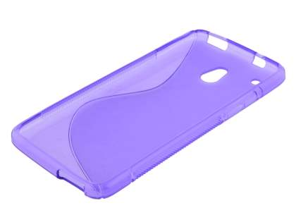 Wave Case for HTC One Mini - Frosted Purple/Purple