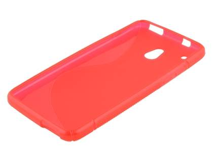 Wave Case for HTC One Mini - Frosted Red/Red