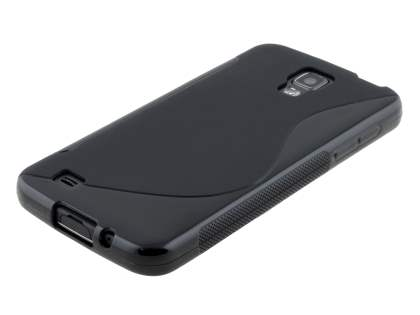 Samsung I9295 Galaxy S4 Active Wave Case - Frosted Black/Black