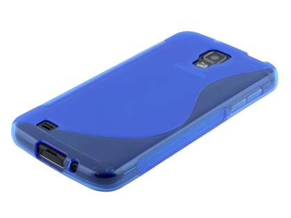 Samsung I9295 Galaxy S4 Active Wave Case - Frosted Blue/Blue
