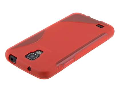 Samsung I9295 Galaxy S4 Active Wave Case - Frosted Red/Red