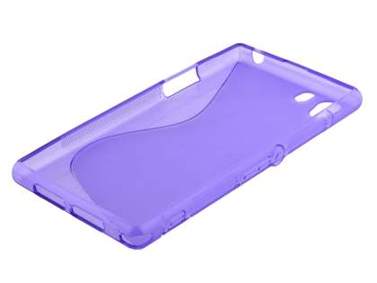 Sony Xperia Z1 Wave Case - Frosted Purple/Purple