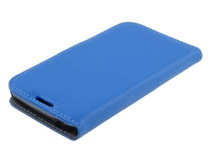 Samsung Galaxy S4 Active I9295 Slim Synthetic Leather Wallet Case with Stand - Blue