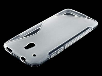 HTC One Mini Wave Case - Frosted Clear/Clear