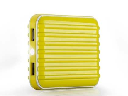 Momax iPower Go External Battery 8800mAh with Dual USB Sockets and LED Light - Canary Yellow Power Bank