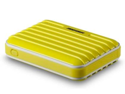 Momax iPower Go External Battery 8800mAh with Dual USB Sockets and LED Light - Canary Yellow