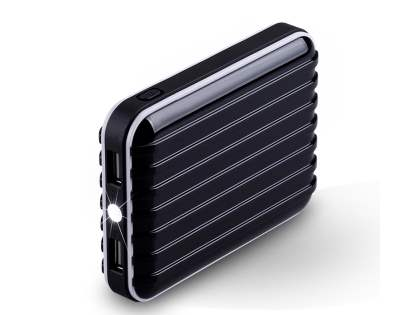 Momax iPower Go External Battery 8800mAh with Dual USB Sockets and LED Light - Classic Black Power Bank