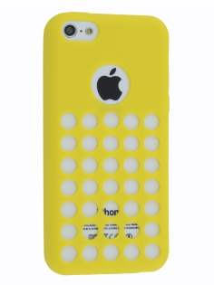 TPU Case for iPhone 5c - Canary Yellow Soft Cover