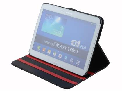 Samsung Galaxy Tab 3 10.1 Synthetic Leather Flip Case with Dual-Angle Tilt Stand - Classic Black