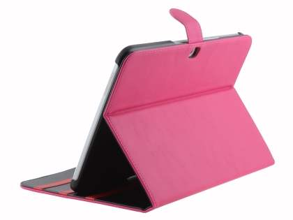 Synthetic Leather Flip Case with Dual-Angle Tilt Stand for Samsung Galaxy Tab 3 10.1 - Pink Leather Flip Case