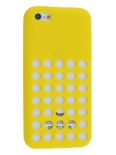 Silicone Rubber Case for iPhone 5c - Canary Yellow Soft Cover