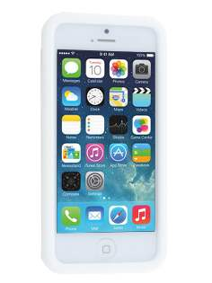 Silicone Rubber Case for iPhone 5c - Pearl White