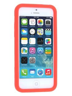 Silicone Rubber Case for iPhone 5c - Red