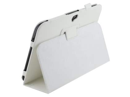 Samsung Google Nexus 10 Synthetic Leather Flip Case with Fold-Back Stand - Pearl White