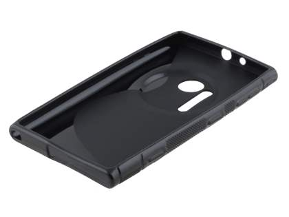 Nokia Lumia 1020 Wave Case - Frosted Black/Black