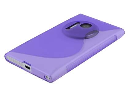 Nokia Lumia 1020 Wave Case - Frosted Purple/Purple