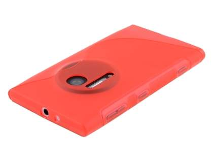 Nokia Lumia 1020 Wave Case - Frosted Red/Red