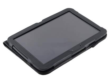 Samsung Google Nexus 10 Synthetic Leather Flip Case with Fold-Back Stand - Classic Black