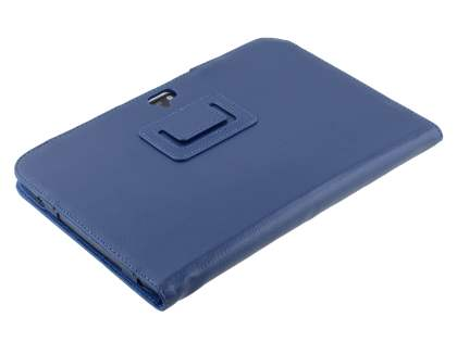 Samsung Google Nexus 10 Synthetic Leather Flip Case with Fold-Back Stand - Blue