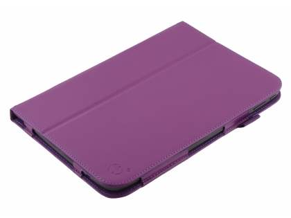 Synthetic Leather Flip Case with Fold-Back Stand for Samsung Google Nexus 10 - Purple