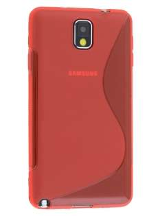 Samsung Galaxy Note 3 Wave Case - Frosted Red/Red