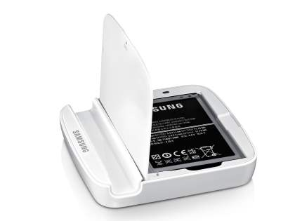 Genuine Samsung Galaxy Note II N7100 Stand and Spare Battery Charger ONLY