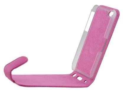 Apple iPhone 5c Genuine Leather Flip Case - Pink