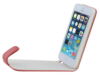 Apple iPhone 5c Synthetic Leather Flip Case - Red
